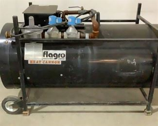 """Located in: Chattanooga, TN MFG Flagro Industries Model F-1000T Heat Cannon Size (WDH) 61-1/2""""W x 29-1/2""""D x 30-1/2""""H Electric/Propane/Natural Gas **Sold As Is Where Is** Does Not Work"""