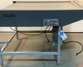 """Located in: Chattanooga, TN MFG Printfold Folding Machine Size (WDH) 59 1/2""""W X 45""""D X 38 3/4""""H Motor Model - 5K942D V - 115, Hz - 60, A - 4.6, HP - 1/4, Single Phase *Sold As Is Where Is*  SKU: E-3-A Tested- Works"""