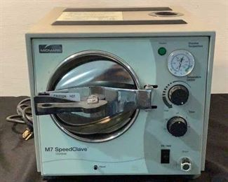 """Buyer Premium 10% BP MFG Midmark Power (V-A-W-P) 120V - 60Hz - 10A Model M7 Sterilizer Size (WDH) 13-1/2""""W x 15""""D x 13""""H Located in: Chattanooga, TN Tested-Works **Sold as is Where is**"""
