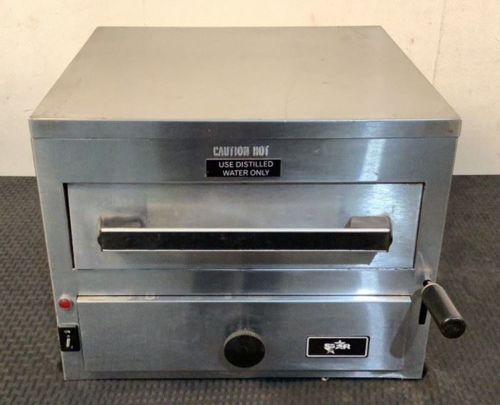 """Located in: Chattanooga, TN MFG Star Model 9C-NFS Ser# NES01697 Power (V-A-W-P) 120V, 1650W Steamer Size (WDH) 16-1/2""""Wx17""""Dx13""""H *Sold As Is Where Is*  SKU: L-4-C Tested-Works"""