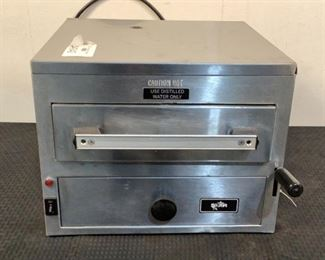 """Located in: Chattanooga, TN MFG Star Model 9C-NFS Ser# NFS01726 Power (V-A-W-P) 120V, 1650W Steamer Size (WDH) 16-1/2""""Wx17""""Dx13""""H *Sold As Is Where Is*  SKU: L-4-C Tested-Works"""