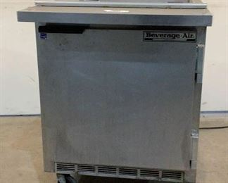"""Located in: Chattanooga, TN MFG Beverage Air Model SP27 12M Power (V-A-W-P) V - 115, Hz - 60, A - 4, Single Phase Refrigerator / Freezer Size (WDH) 27""""W X 34""""D X 35 3/4""""H *Missing Top* *Sold As Is Where Is*  SKU: A-4 Tested - Works"""