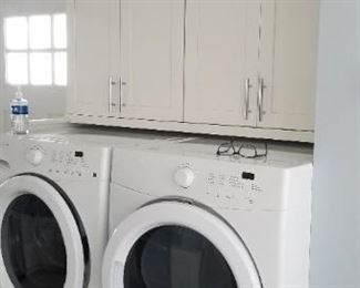 Frigidaire washing machine (mfg. 8/16) & electric dryer