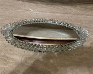Heavy crystal vanity mirror