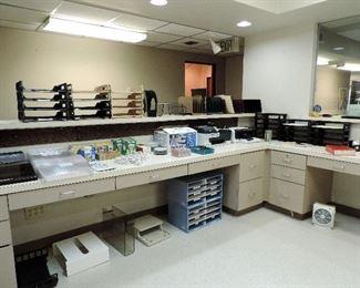OFFICE SUPPLIES AND RECEPTION DESKS