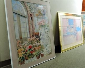 FRAMED PRINTS WITH FLOWERS