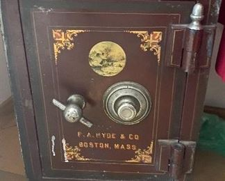 Antique 19th century floor safe, works with combo