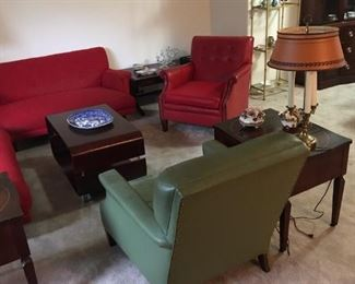 Vintage high quality furnishings ... chairs, occasional tables, coffee tables, couches/sofas, china/dishes, etc