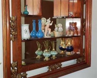 Hanging curio shelf