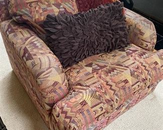 PAIR OF COMFY STUFFED CHAIRS