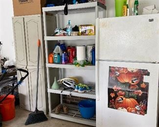 Storage Cabinet, Shelving Units, Refrigerator