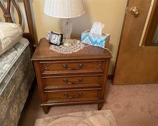 . . . a nice night stand with crystal lamp