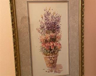 . . . framed floral