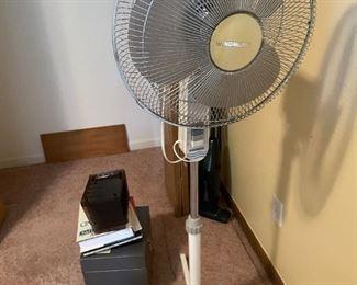 . . . a standing fan