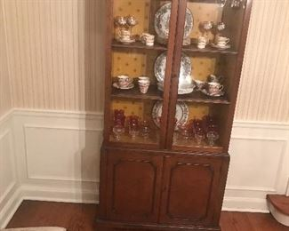 Small China Cabinet with Two Shelves
