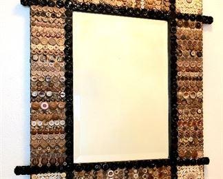 """Button artwork mirror - 24' x 29"""""""