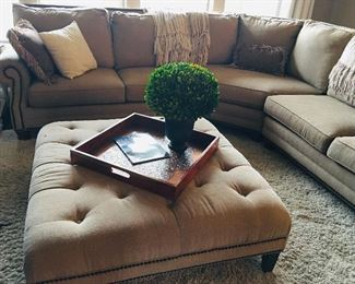 Couch and ottoman