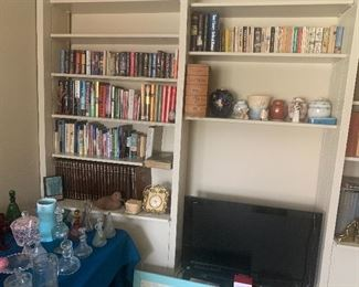 More books and Flat Screen TV
