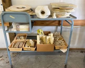 Kiln Supplies and Cart