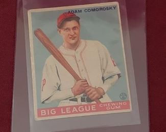 1933 Goudey Adam Comorosky Card
