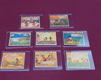 1935 Mickey Mouse Bubble Gum Trading Cards