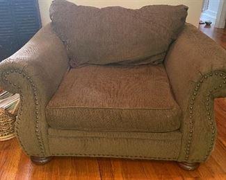 Moss Green Chintz Chair