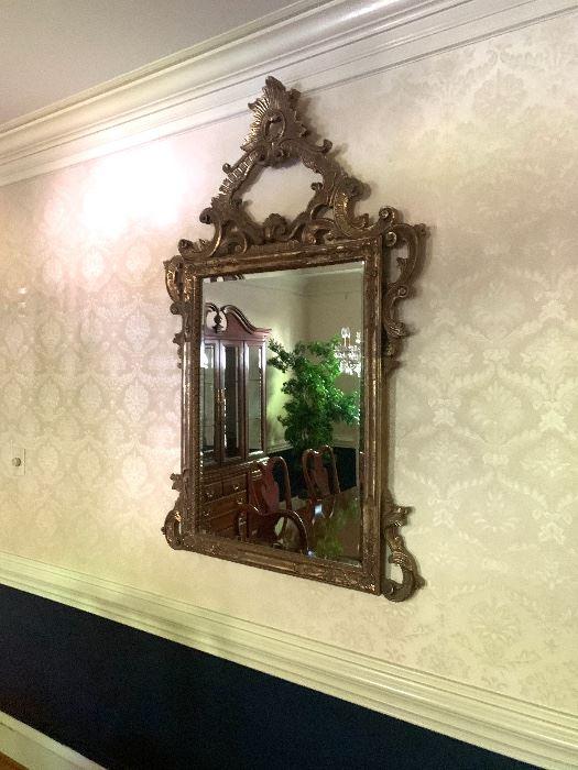 Vintage Guildwood Mirror