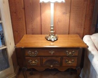Chippendale Style Desk 1 of 2  Brass Stiffel Lamp 1 of 2