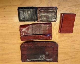 Eel skin wallets