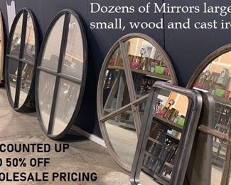 More mirrors not pictured, many sizes and styles