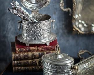 Hand Hammered Tea and Spice Canisters from Morocco