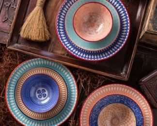 Ceramic Bowl Sets in Several Colors and Patterns