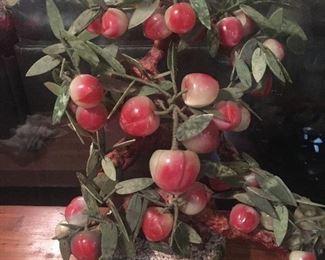Peach jade bonsai tree