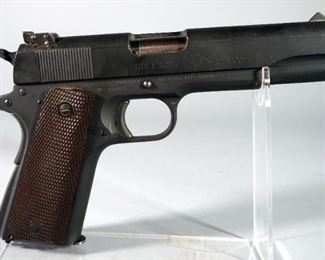 Colt Ace Service Model M1911A1 United States Property .22 LR Pistol SN# 1208662, Crossed Cannons, HD And P On Left Frame, Parkerized