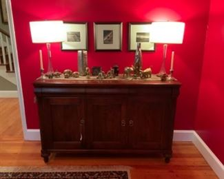 Ethan Allen Buffet & Lamps From High Fashion Home