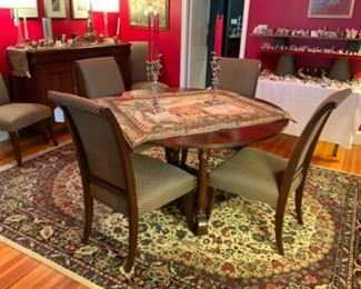 Ethan Allen Table & Chairs-Has Table Pads, Leaf, & 8 Chairs