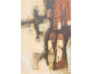 """Cecil Casebier (1922-1996), untitled abstract, oil on board, framed. sight: 48 x 31"""", frame: 50 x 33"""""""