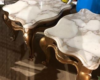 Italian marble top tables
