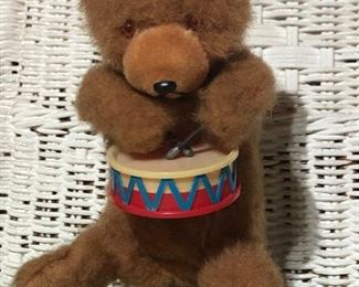 Vintage wind up teddy bear