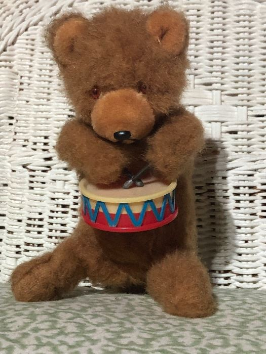Vintage wind up teddy bear