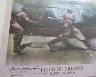 American NEGRO LEAGUE autographed poster from the Memphis Redbirds, c. 1945