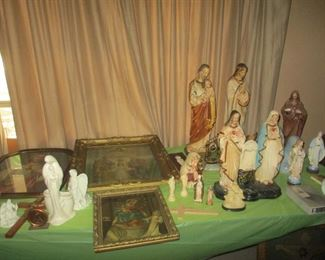 Huge collection of vintage Christian items of  devotion; the seller was a devout Catholic. Some of the items are very  old. Superb collection.