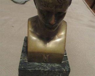 Bronze bust of Emperor Napoleon