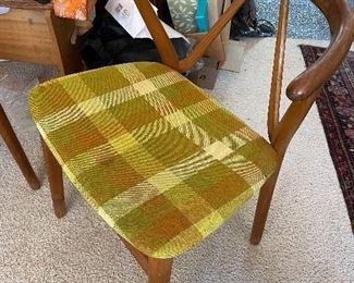 Beautiful mid-century Danish teak chairs.