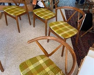 Four Bruno Hansen Danish teak chairs in excellent condition - model 225.
