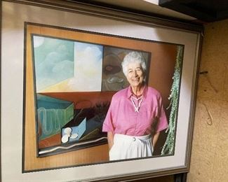 "Harriet Eleanor Baker 1912-2004 educator, leader and arts advocate, was the director of The Stagecoach Inn Museum in Newbury Park starting in 1977 and was instrumental in many innovative changes in the exhibition rooms. Her contributions to the community through public events and celebrations are numerous and she has been honored for many of her achievements. Her wonderful art and photographs are found in this home. She also co-authored a documentary book of photographs in the village of Me'nerbes, Provence, France with Ms. Von Euer...  She was also awarded ""Woman of the Year"" in 1981 from the Golden Triangle Business and Professional Women's Club in Thousand Oaks."