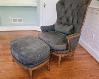 chair: 48 x 33 x 30, ottoman: 19 x 30 x 22
