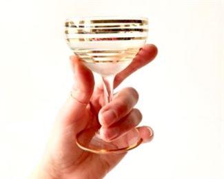 Cheers!  Vintage cocktail glasses.