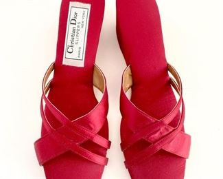 Dior ruby slippers.