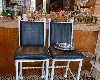 White Iron Bar chairs